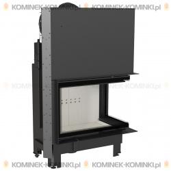 Wkład kominkowy KRATKI MBA 17 kW prawy BS gilotyna (szyby łączone bez szprosa) - kominek KRATKI