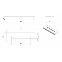 Pojemnik biokominka długi KRATKI