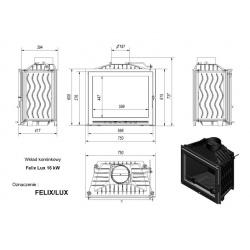 Wkład kominkowy KRATKI FELIX 16 kW LUX - kominek KRATKI