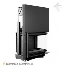 Wkład kominkowy KRATKI AMELIA 25 kW prawy BS gilotyna (szyby łączone bez szprosa) - kominek KRATKI