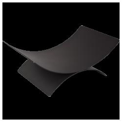 akcesoria kominkowe kosz czarny