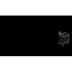 piec wolnostojący Koza K10 z ASDP z wylotem spalin fi 130