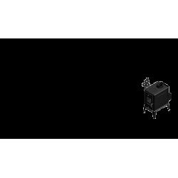 piec wolnostojący Koza K10 z TF z wylotem spalin fi 130