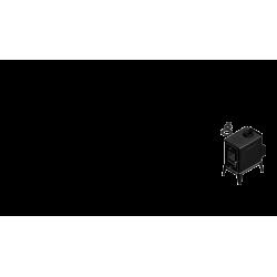 piec wolnostojący Koza K10 z TF z wylotem spalin fi 150