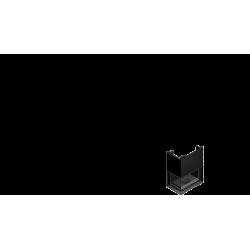 Wkład kominkowy KRATKI OLIWIA 18 kW lewy BS gilotyna (szyby łączone bez szprosa) - kominek KRATKI