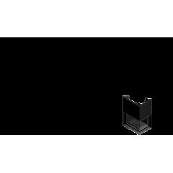 Wkład kominkowy KRATKI ZUZIA 16 kW prawy BS gilotyna (szyby łączone bez szprosa) - kominek KRATKI