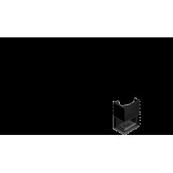 Wkład kominkowy KRATKI ZUZIA 16 kW lewy BS gilotyna (szyby łączone bez szprosa) - kominek KRATKI