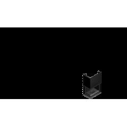 Wkład kominkowy KRATKI AMELIA 25 kW lewy BS gilotyna (szyby łączone bez szprosa) - kominek KRATKI