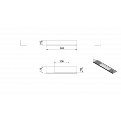 Przeszklenie do biokominka DELTA 2 komplet KRATKI