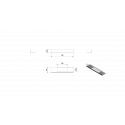 Przeszklenie do biokominka BRAVO 2 komplet KRATKI