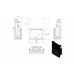 Wkład kominkowy KRATKI FELIX 16 kW gilotyna - kominek KRATKI