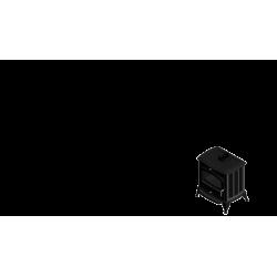piec wolnostojący Koza K6 z wylotem spalin fi 130 z wymiennikiem wodnym