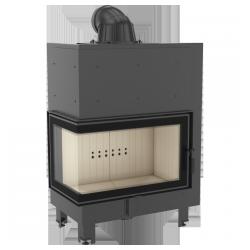 Wkład kominkowy KRATKI MBO 15 kW lewy BS (szyby łączone bez szprosa) - kominek KRATKI