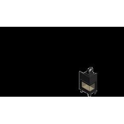 Wkład kominkowy KRATKI MBZ 13 kW prawy BS (szyby łączone bez szprosa) - kominek KRATKI
