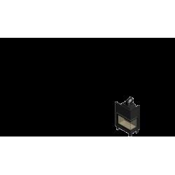 Wkład kominkowy KRATKI MBA 17 kW prawy BS (szyby łączone bez szprosa) - kominek KRATKI