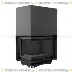 Wkład kominkowy KRATKI MAJA 12 kW lewy BS gilotyna (szyby łączone bez szprosa) - kominek KRATKI