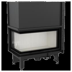 Wkład kominkowy KRATKI NADIA 14 kW lewy BS gilotyna (szyby łączone bez szprosa) - kominek KRATKI