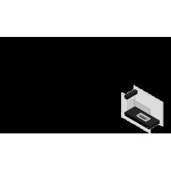Biokominek KRATKI LINATE biały 780x1100 TÜV - biokominki KRATKI LINATE