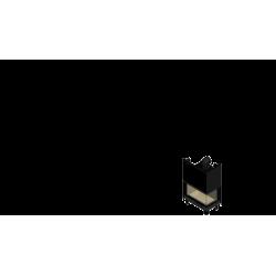 Wkład kominkowy KRATKI MBO 15 kW prawy BS gilotyna (szyby łączone bez szprosa) - kominek KRATKI