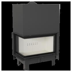 Wkład kominkowy KRATKI MBO 15 kW lewy BS gilotyna (szyby łączone bez szprosa) - kominek KRATKI