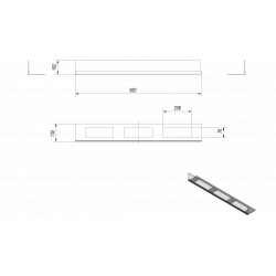 Przeszklenie do biokominka DELTA 3 komplet KRATKI