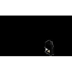 Wkład kominkowy KRATKI MBZ 13 kW lewy BS gilotyna (szyby łączone bez szprosa) - kominek KRATKI
