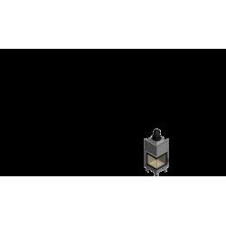 Wkład kominkowy KRATKI MBN 8 kW lewy BS (szyby łączone bez szprosa) - kominek KRATKI