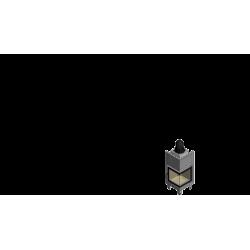 Wkład kominkowy KRATKI MBN 8 kW prawy BS (szyby łączone bez szprosa) - kominek KRATKI