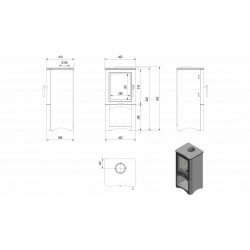 piec wolnostojący Koza K5/S/W fi 150