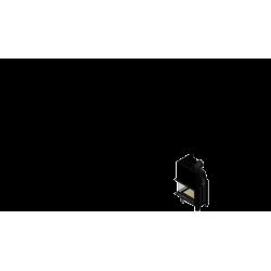 Wkład kominkowy KRATKI MBM 10 kW lewy BS gilotyna (szyby łączone bez szprosa) - kominek KRATKI