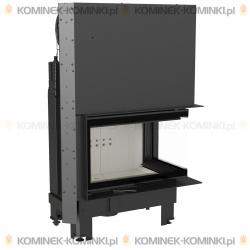 Wkład kominkowy KRATKI MBM 10 kW prawy BS gilotyna (szyby łączone bez szprosa) - kominek KRATKI