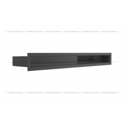 kratka wentylacyjna luft 60x600 mm - kolor czarny SF
