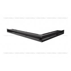 kratka wentylacyjna luft narożny standard 766x547x60 lewy czarny SF