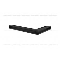 kratka wentylacyjna luft narożny standard 60x400x600 lewy czarny