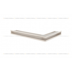 kratka wentylacyjna luft narożny standard 60x400x600 lewy kremowy