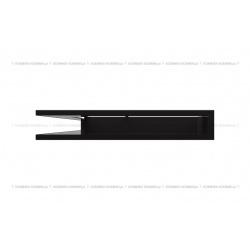 kratka wentylacyjna luft narożny standard 766x547x90 lewy czarny SF