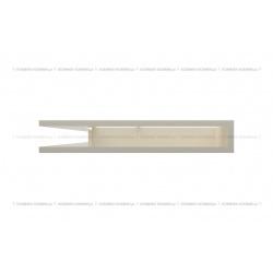 kratka wentylacyjna luft narożny standard 766x547x90 lewy kremowy
