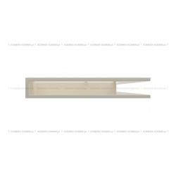 kratka wentylacyjna luft narożny standard 547x766x90 prawy kremowy SF