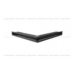 kratka wentylacyjna luft narożny standard 560x560x60 czarny