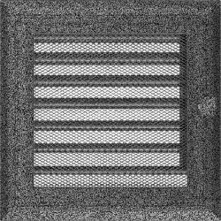 kratka17/17 oskar z żaluzją czarno srebrny