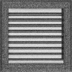 kratka22/22 oskar z żaluzją czarno srebrny