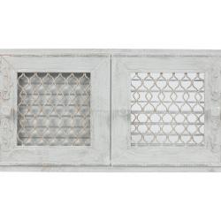 kratka retro otwierana podwójna biały antyk