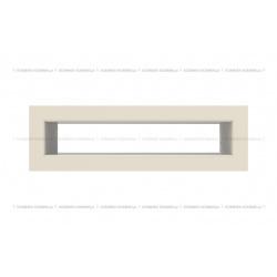 kratka wentylacyjna tunel 60x200 mm - kolor kremowy