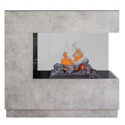 Kominek elektryczny DIMPLEX ZEN beton 3D Opti-myst - elektryczny wkład kominkowy z obudową ZEN