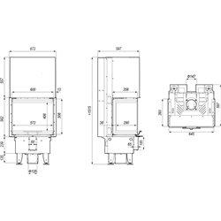 DEFRO HOME INTRA XSM C G gilotyna - wkład kominkowy 8 kW - kominek trójstronny gilotyna DEFRO INTRA XSM C G