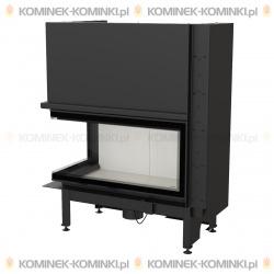 Wkład kominkowy KRATKI NADIA 14 kW prawy BS gilotyna (szyby łączone bez szprosa) - kominek KRATKI