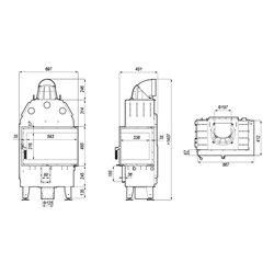 DEFRO HOME INTRA SM BL MINI - wkład kominkowy 10 kW - kominek narożny DEFRO INTRA SM BL MINI