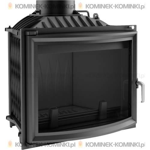 Wkład kominkowy KRATKI ERYK 12 kW panoramiczny + dolot - kominek KRATKI