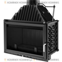 Wkład kominkowy KRATKI OLIWIA 18 kW + dolot - kominek KRATKI