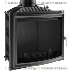 Wkład kominkowy KRATKI FELIX 16 kW panoramiczny + dolot - kominek KRATKI